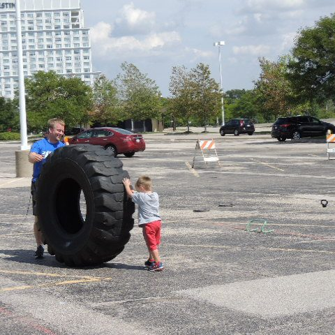 Tire and kid
