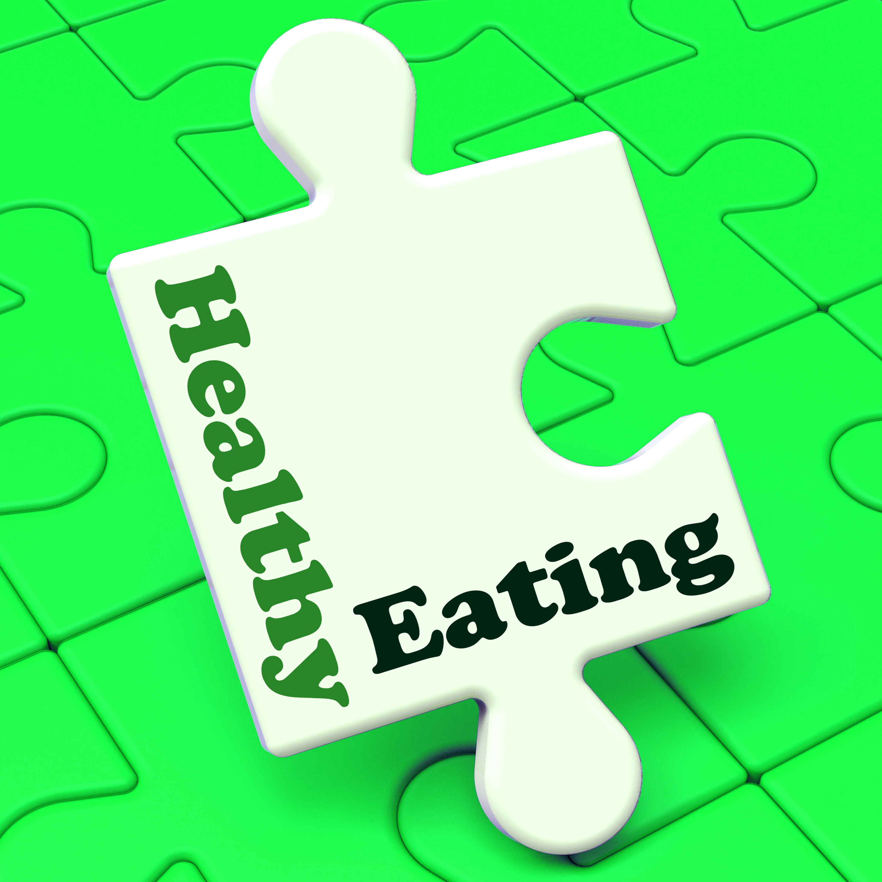 Healthy Eating Meaning Fresh, Nutritious And Low Fat Eating