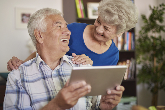Using a tablet is not a problem for grandparents