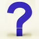Blue Question Mark With White Background