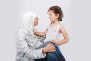 Muslim mother and daugther